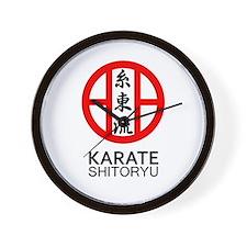 Shitoryu Karate Symbol and Kanji Wall Clock