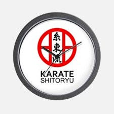 Shitoryu Karate Symbol and Kanji Wall Clock
