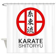 Shitoryu Karate Symbol and Kanji Shower Curtain