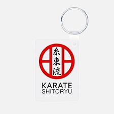 Shitoryu Karate Symbol and Kanji Keychains