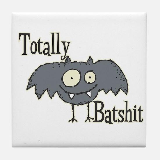 Totally Batshit Tile Coaster