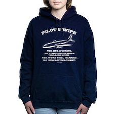 Pilot's Wife Humor Women's Hooded Sweatshirt