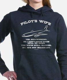 Pilot's Wife Humor Women's Hooded Sweatshirt