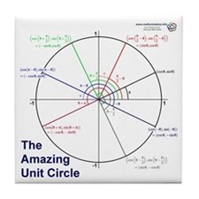 Amazing Unit Circle Tile Coaster