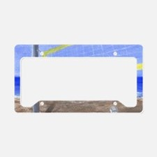 Beach Volleyball License Plate Holder