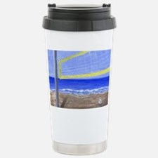 Beach Volleyball Stainless Steel Travel Mug