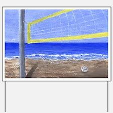 Beach Volleyball Yard Sign