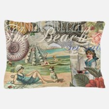 Vintage Victorian Beach Retro Summer Pillow Case