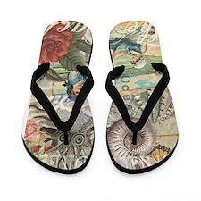 Vintage Victorian Beach Retro Summer Flip Flops