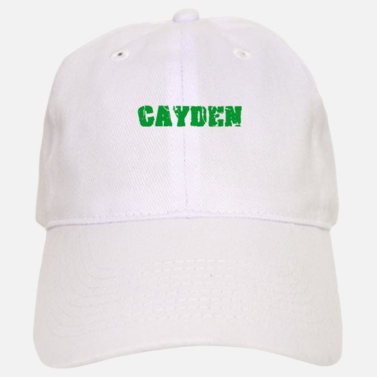 Cayden Name Weathered Green Design Baseball Baseball Cap