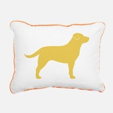 Yellow Lab Rectangular Canvas Pillow