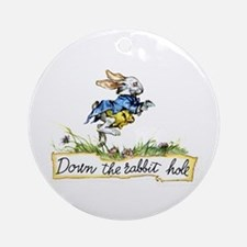 Alice and the White Rabbit Ornament (Round)