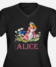Alice and th Women's Plus Size V-Neck Dark T-Shirt