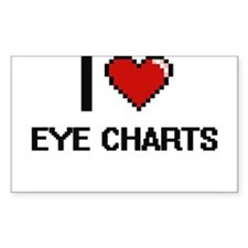I love EYE CHARTS Decal