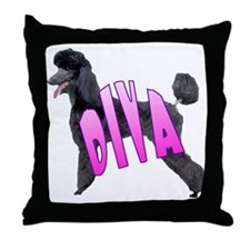 poodle diva Throw Pillow