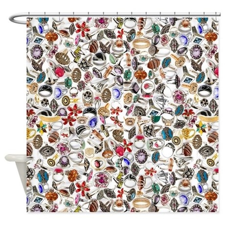 Rings Jewelry 2 Shower Curtain By Listing Store 13506533