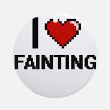 I love Fainting Ornament (Round)