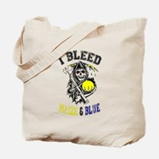 Funny Maize and blue Tote Bag