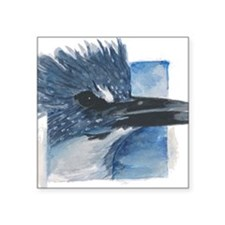"Kingfisher Square Sticker 3"" x 3"""