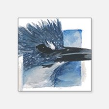 "Kingfisher Square Sticker 3"" x 3"""