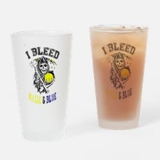 Cool Maize and blue Drinking Glass