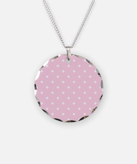 Pink, Baby: Polka Dots Patte Necklace