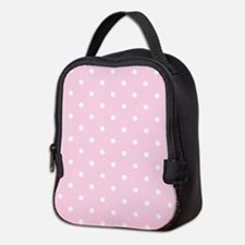 Pink, Baby: Polka Dots Pattern Neoprene Lunch Bag