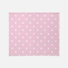 Pink, Baby: Polka Dots Pattern (Smal Throw Blanket