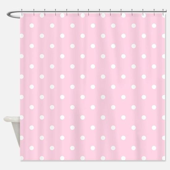 Pink, Baby: Polka Dots Pattern (Sma Shower Curtain