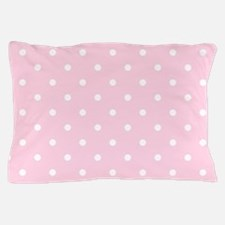 Pink, Baby: Polka Dots Pattern (Small) Pillow Case