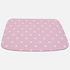 Pink, Baby: Polka Dots Pattern (Small) Bathmat