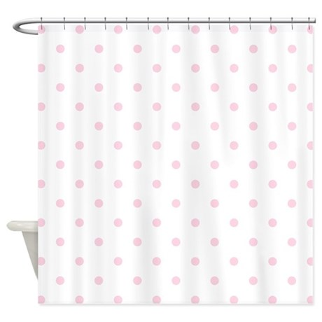 Pink, Baby: Polka Dots Pattern (Sma Shower Curtain By Colors_and_Patterns_1