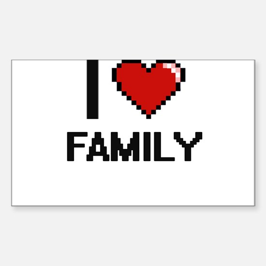 I love Family Decal