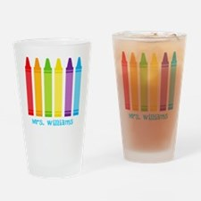 Custom Teacher Drinking Glass