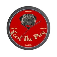 Feed The Pug Wall Clock