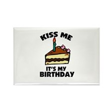 Kiss Me - It's My Birthday Rectangle Magnet