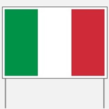 Authentic Italy national flag - SQ produ Yard Sign