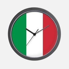 Authentic Italy national flag - SQ prod Wall Clock