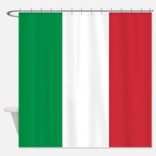 Authentic Italy national flag - SQ Shower Curtain