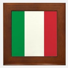 Authentic Italy national flag - SQ pro Framed Tile