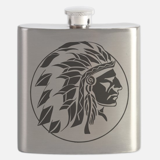 Indian Chief Head Flask