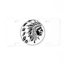 Indian Chief Head Aluminum License Plate