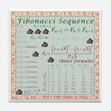 Fibonacci Sequence Tile Coaster