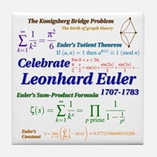 Celebrate Euler More Tile Coaster