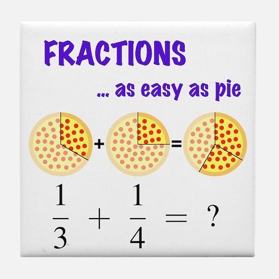 Fractions Question Tile Coaster