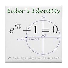 Euler's identity Tile Coaster