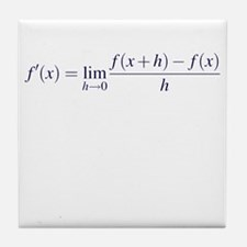 Derivative Definition Tile Coaster