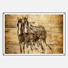 western country farm horse Banner