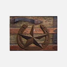 western horseshoe texas star 5'x7'Area Rug
