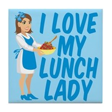 Lunch Lady Tile Coaster